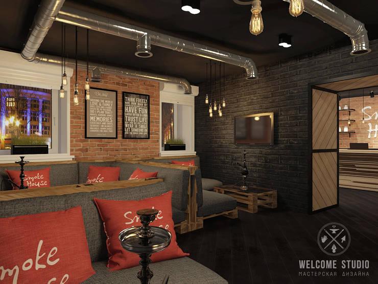 Кальянная ракурс 2: Бары и клубы в . Автор – Мастерская дизайна Welcome Studio