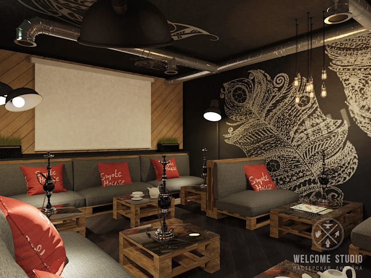 Кальянная ракурс 5: Бары и клубы в . Автор – Мастерская дизайна Welcome Studio