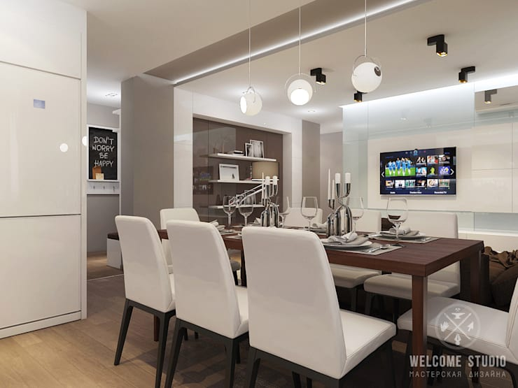 Kitchen by Мастерская дизайна Welcome Studio, Minimalist