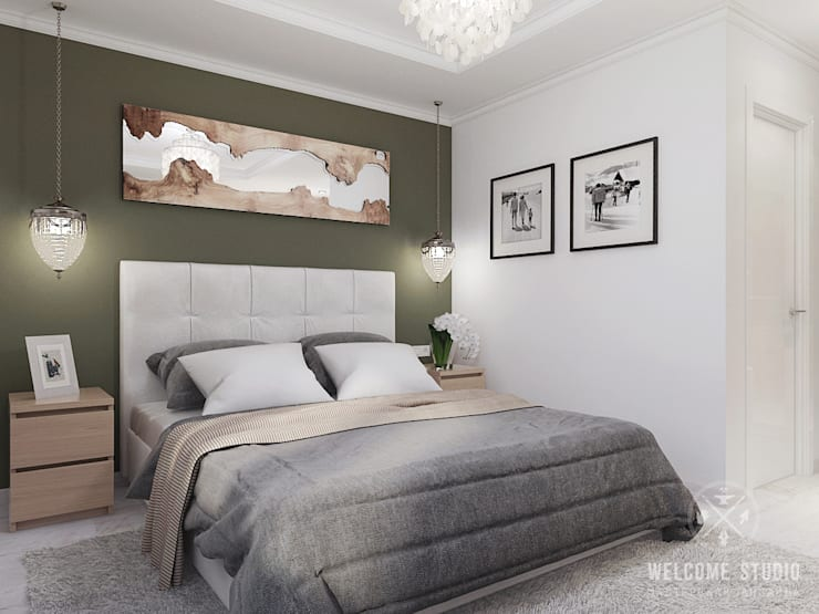Bedroom by Мастерская дизайна Welcome Studio, Minimalist