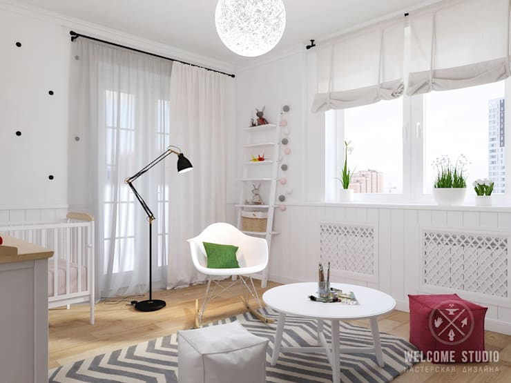 Nursery/kid's room by Мастерская дизайна Welcome Studio