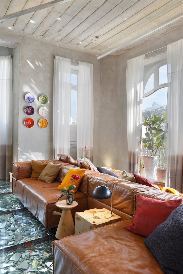 Lab LZ by GT - Casa Cor 2015: Salas de estar  por Gisele Taranto Arquitetura