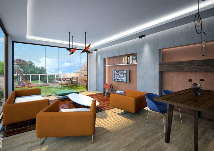 Point Dizayn – S.Ş. salon:  tarz Oturma Odası, Modern