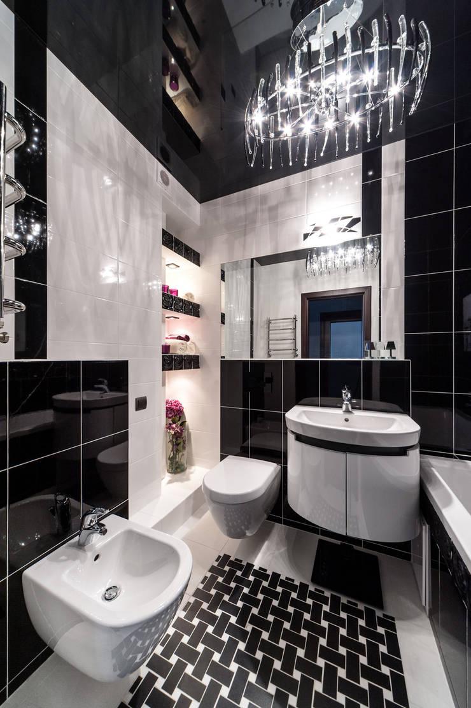 Чёрное озеро (дизайн интерьера квартиры г.Калининград): Ванные комнаты в . Автор – Asiya Orlova Interior Design