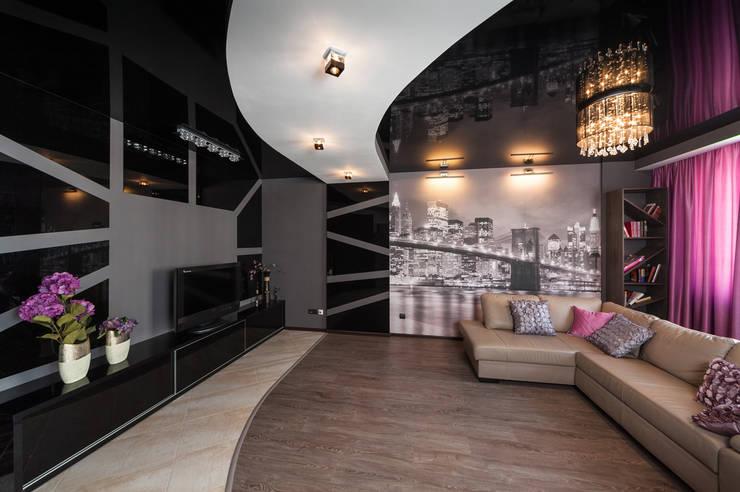 Чёрное озеро (дизайн интерьера квартиры г.Калининград): Гостиная в . Автор – Asiya Orlova Interior Design