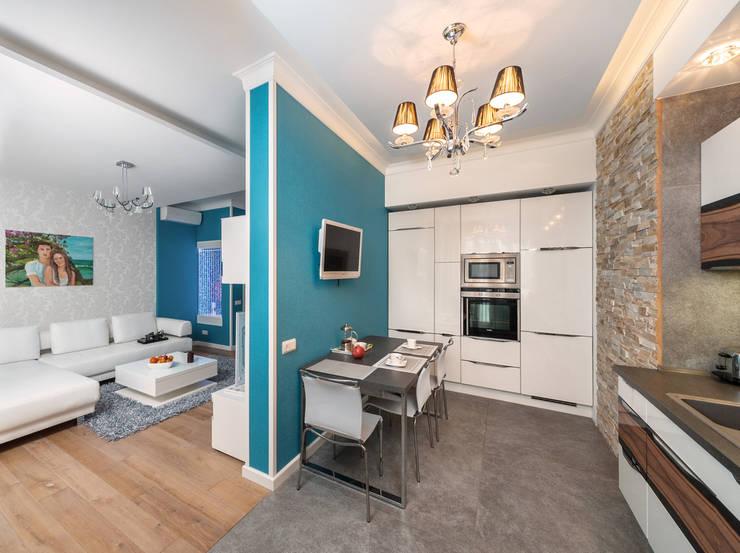 مطبخ تنفيذ Asiya Orlova Interior Design