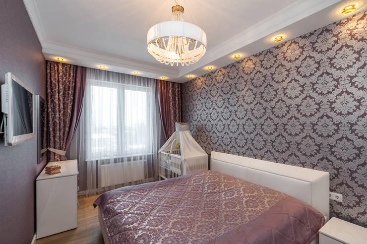 غرفة نوم تنفيذ Asiya Orlova Interior Design