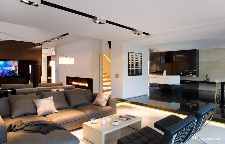 Livings de estilo minimalista de Bartek Włodarczyk Architekt Minimalista