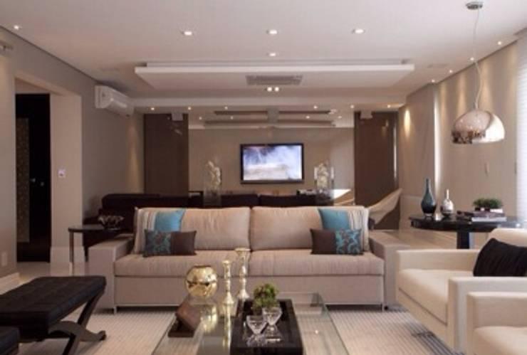 Apartamento MJ: Salas de estar  por Maluf & Ferraz interiores,Moderno