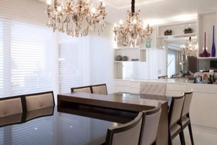 Apartamento MJ: Salas de jantar  por Maluf & Ferraz interiores,Moderno