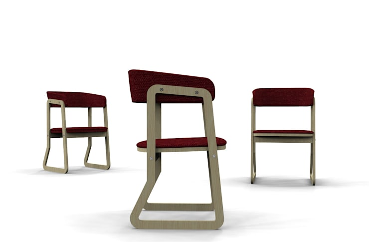 Salina chair: Sala da pranzo in stile  di Giovanni Cardinale Designer