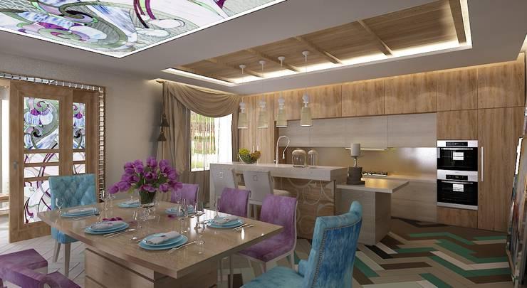Интерьер гостиной: Гостиная в . Автор – Студия дизайна Натали Хованской