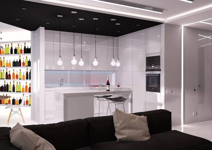 Квартира MINIMAL: Кухни в . Автор – QUADRUM STUDIO