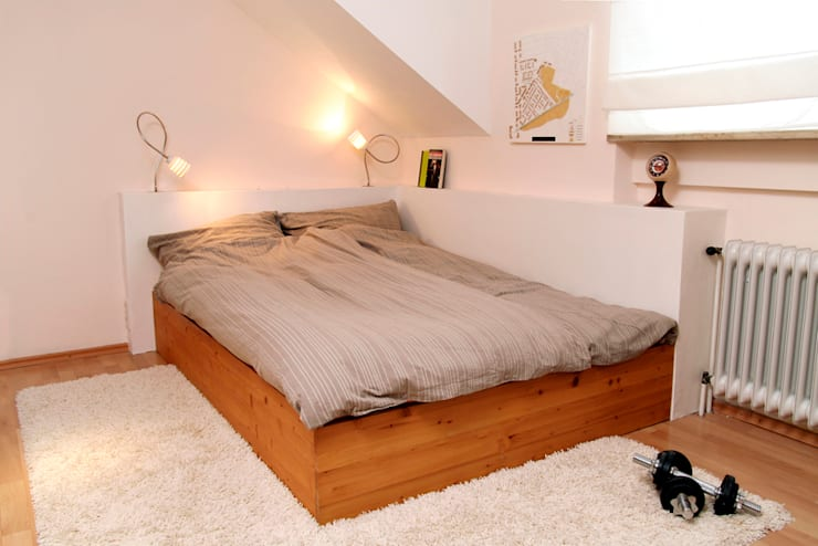 Geborgen: moderne Schlafzimmer von Raumagentur - ArteFakt