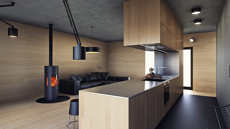 minimalistic Kitchen by INDEA