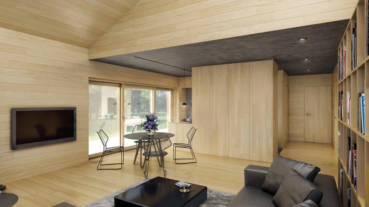 Dom dostępny: styl , w kategorii Salon zaprojektowany przez INDEA,