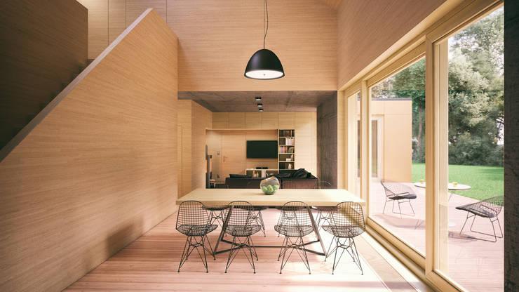 Optymalny comfort (aranżacja #2): styl , w kategorii Jadalnia zaprojektowany przez INDEA