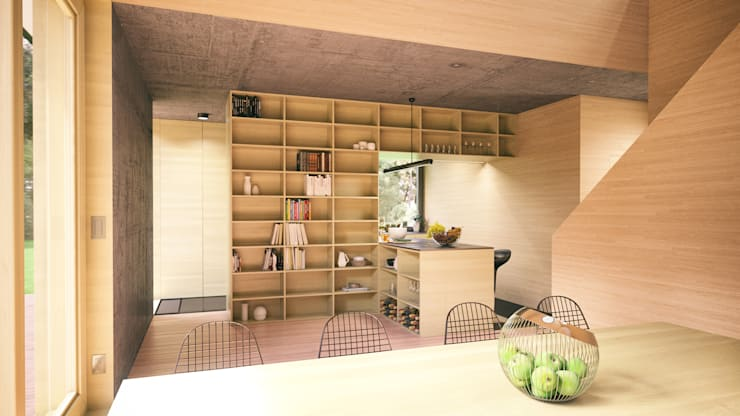 Optymalny comfort (aranżacja #2): styl , w kategorii Kuchnia zaprojektowany przez INDEA