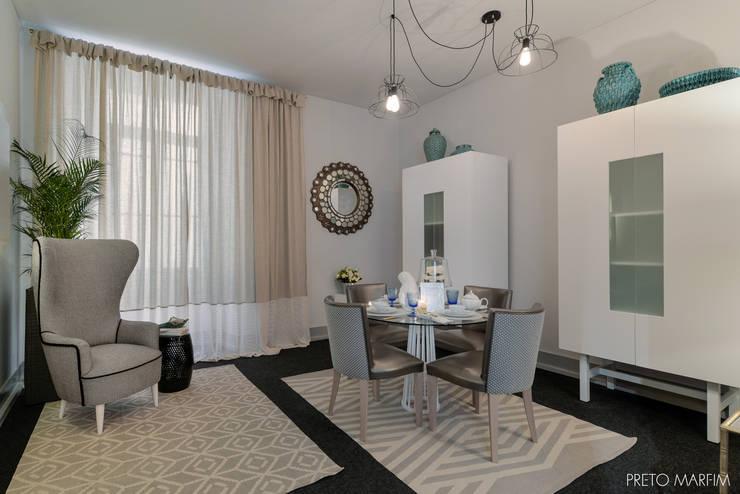 غرفة السفرة تنفيذ Preto Marfim