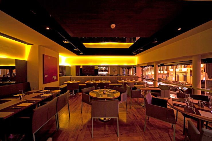 Paspartu Mimarlık – W HOTEL İSTANBUL LOUNGE, RESTAURANT ve MİNYON CAFE DÜZENLEME PROJESİ:  tarz Yeme & İçme