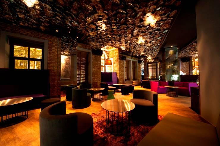 Paspartu Mimarlık – W HOTEL İSTANBUL LOUNGE, RESTAURANT ve MİNYON CAFE DÜZENLEME PROJESİ:  tarz Bar & kulüpler