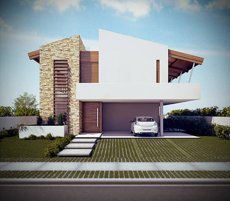 Projekty,  Domy zaprojektowane przez Martins Lucena Arquitetos
