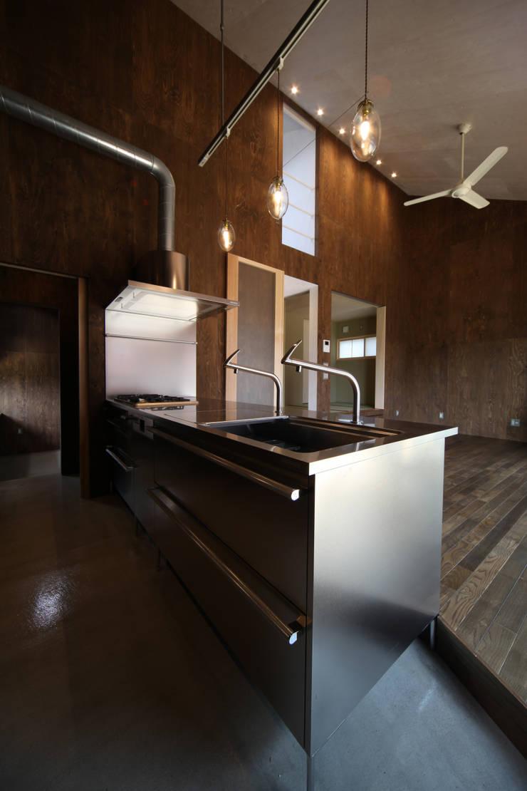東谷の家: 加門建築設計室が手掛けたキッチンです。,