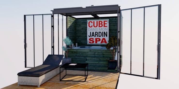 Spa de estilo  por Un CUBE dans mon jardin