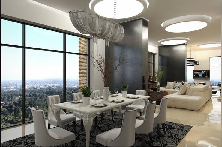 С видом на город: Столовые комнаты в . Автор – Art Style Design