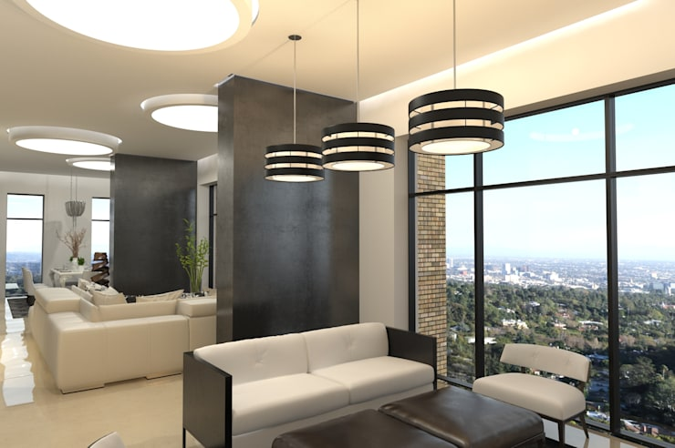С видом на город: Гостиная в . Автор – Art Style Design
