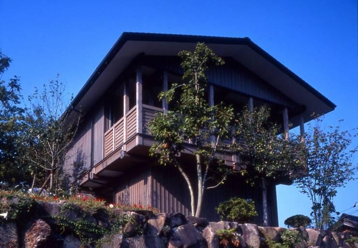 建物の南面。: 酒井光憲・環境建築設計工房が手掛けた家です。,