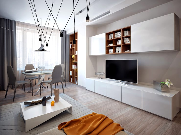 Wohnzimmer von Михаил Новинский (MNdesign)