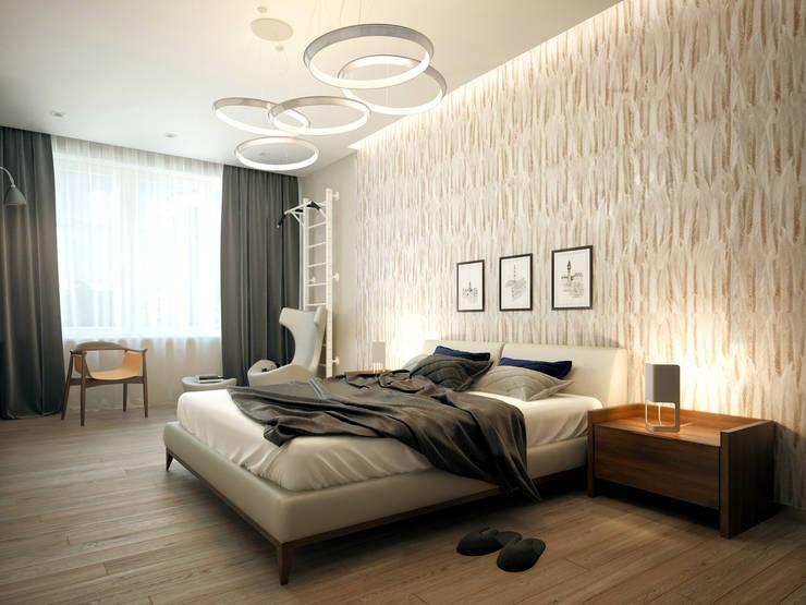 Квартира на Ленинградском шоссе: Спальни в . Автор – Михаил Новинский (MNdesign)