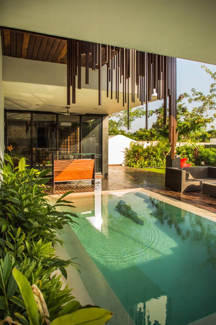 OM: Albercas de estilo  por FGO Arquitectura