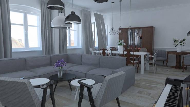 pokój dzienny z jadalnią: klassische Wohnzimmer von homify