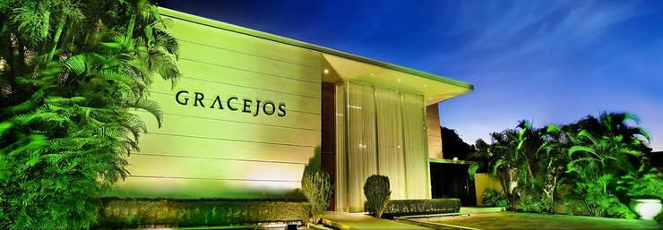 Gracejos Recepções: Casas  por Martins Lucena Arquitetos,