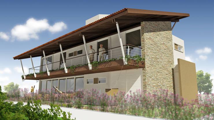 Casa ED: Casas tropicais por Martins Lucena Arquitetos
