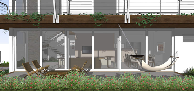 Casa ED: Terraços  por Martins Lucena Arquitetos