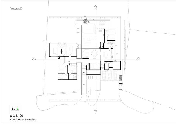 Casa-Habitación:  de estilo  por VIVAinteriores
