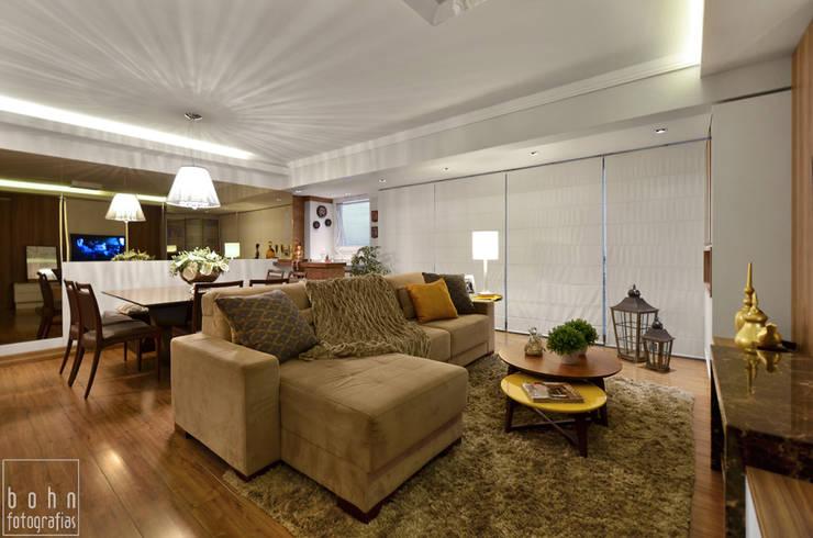 ESTAR INTEGRADO: Salas de estar  por LizRibeiro Arquitetura