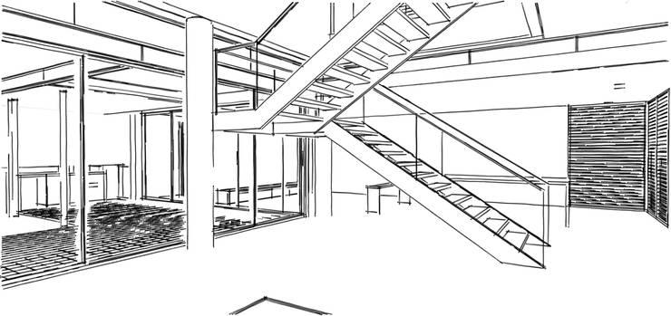 de estilo  por Martins Lucena Arquitetos, Moderno