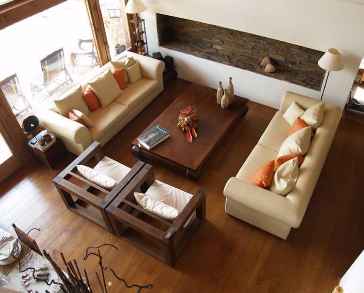 Wohnzimmer von Manuel Monroy Pagnon, arquitecto