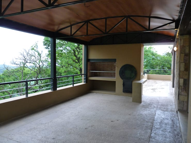 Vivienda Unifamiliar en Raco.: Terrazas de estilo  por ee.arquitectos