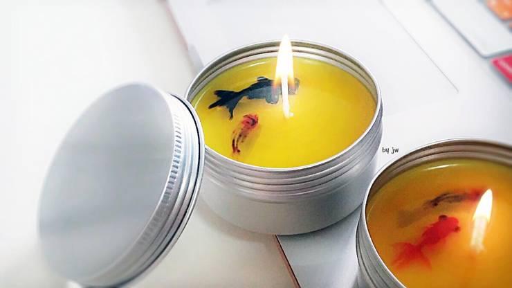 [물품소] FISHCANDLE tincase: 물고기를 품은 소이캔들의