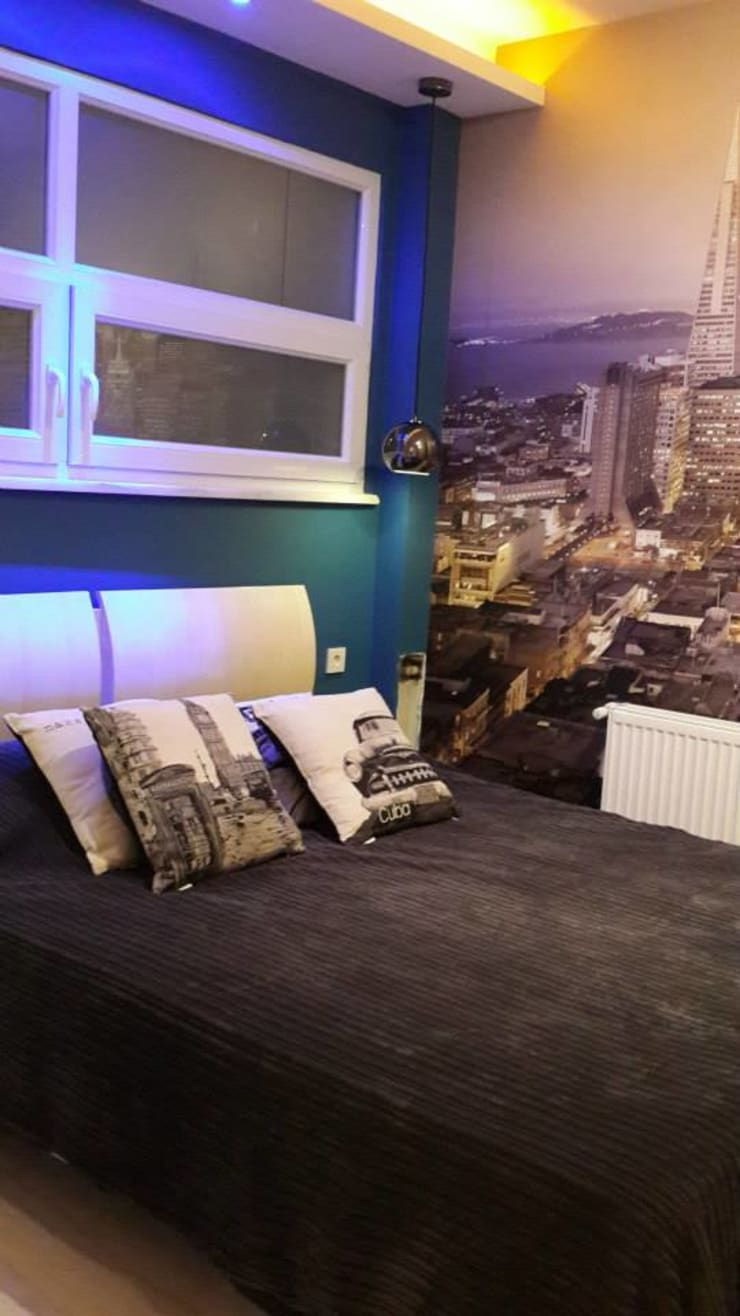 Bozantı Mimarlık – Nişantaşında Ev:  tarz Yatak Odası, Modern