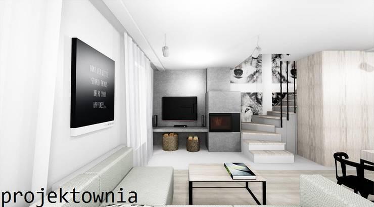 Salon: styl , w kategorii Salon zaprojektowany przez Projektownia Marzena Dąbrowska