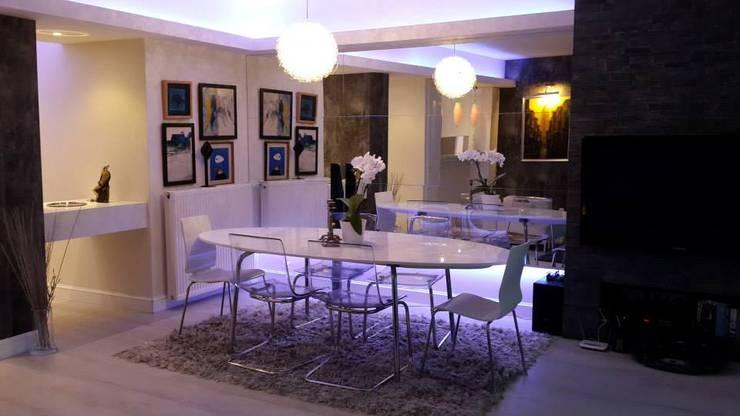 Bozantı Mimarlık – Nişantaşında Ev:  tarz Yemek Odası, Modern