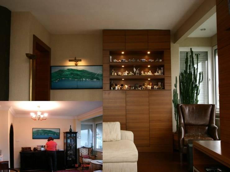 Ulus'ta Ev No.2 Modern Oturma Odası Bozantı Mimarlık Modern