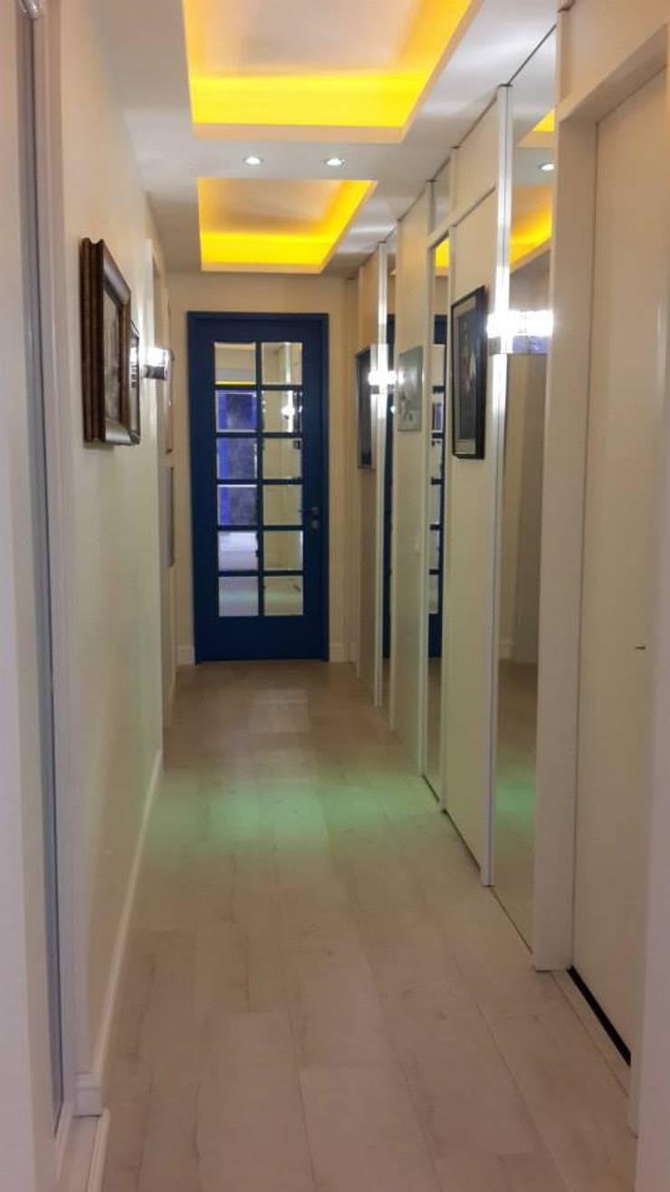 Bozantı Mimarlık – Nişantaşında Ev:  tarz Koridor ve Hol, Modern