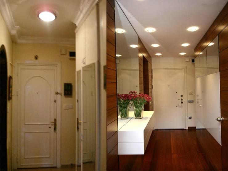 Ulus'ta Ev No.2 Modern Koridor, Hol & Merdivenler Bozantı Mimarlık Modern